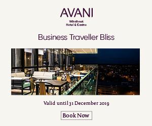 Merchant 52213 – Avani Hotels & Resorts – Business Traveller Deal, from NAD 2,587 AVANI Windhoek Hotel & Casino, Windhoek