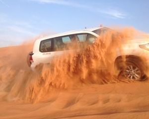 Best Dubai Desert Safari-Dune Bashing & Camel Riding with BBQ & Belly Dance Show