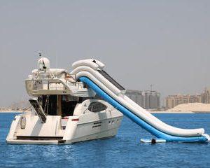 Dubai Luxury Yacht Charter With Yacht Water Slide