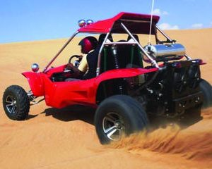 Exciting Dubai Dune Buggy Safari & Sand Boarding & BBQ Dinner & Belly Dance Show