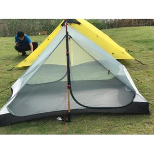 3F UL Gear 2 person, 3 season UL TREKKING POLE Tent - Gray